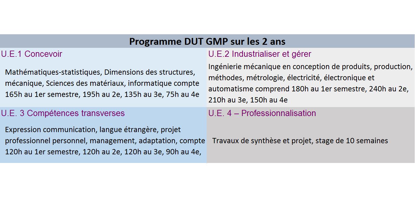 programme dut gmp