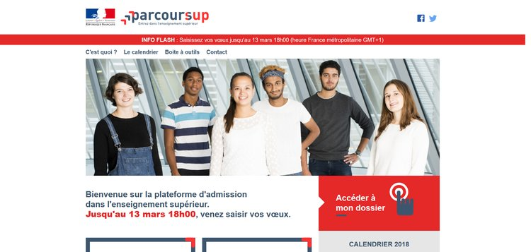 Parcoursup, plateforme d'admission post-bac